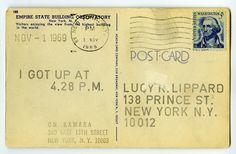 "#ART   On Kawara   ""I Got Up"" (1969) to Lucy Lippard."