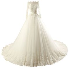 """Yisha Women's Elegant Scoop Shoulder Long Sleeve Stain Belt Ball Gown Wedding Dress. Fabric:Appliques ,Tulle. Custom Size and Color are Available.If you need choose custom made size or color, please email your measurement and requirement to us. Production time:About 2 Weeks ,Delivery time:About 7-15 Days. Our bride dresses are made of professional designers that have ten years experience.Selection of high quality materials and fine detail processing. Search """"Yisha"""" for more products. Any..."""