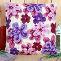 'Dreamy Haze' Cross Stitch Cushion Kit by Twilleys of Stamford.