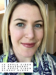 LipSense Apple Cider and Roseberry with glossy gloss. Lovely Lips By Jess ❤️