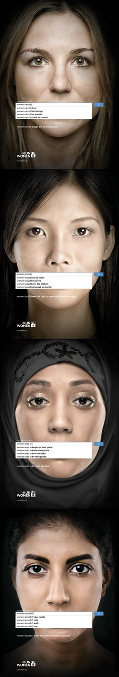 UN WOMEN | Auto Complete Truth | #Advertising ---> Repinned by www.gers.nl