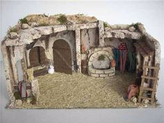 idea for cistern Christmas Villages, Christmas Nativity, Christmas Crafts, Ceramic Houses, Fairy Land, Christmas Projects, Dollhouse Miniatures, Scene, Diorama Ideas