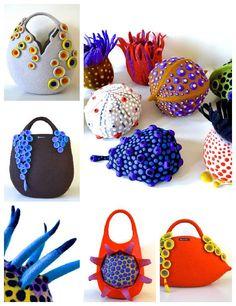Amazing Felt Creations by Atsuko Sasaki #Art, #Bag, #Fabric, #Fashion, #Felt