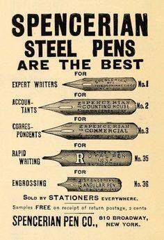 Pen nibs Spencerian Love.