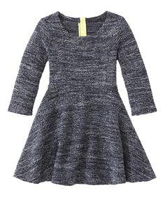 Back Marled A-Line Dress -