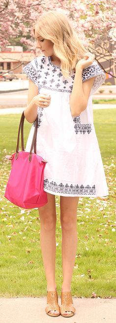Little Embroidered Dress Summer Style