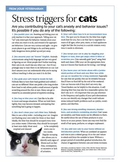Client handouts: Top 10 stress triggers for dogs and cats Veterinary World, Veterinary Medicine, Veterinary Receptionist, Mobile Vet, Vet Assistant, Cat Behavior, Pet Health, Health Tips, Cats And Kittens