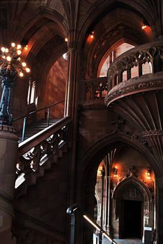 Arches, The John Rylands University Library, Manchester, England photo via mark Blue Pueblo Narnia, Places To Travel, Places To See, Medieval, Manchester England, Manchester United, Manchester City, Beautiful Library, Tuscany Italy