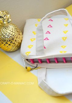 Jen Larsen from Craft-o-Maniac uses our padded bag for her planners. This canvas tote is also just the right size for your iPad, tablet, bible, and more!