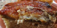 torta-de-banana-caramelada-invertida-pta Sin Gluten, Portuguese Recipes, Dory, Meatloaf, Lasagna, Brunch, Food And Drink, Pasta, Ethnic Recipes