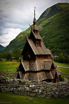 Exterior of Stave Church, Borgund, Norway. c. 1125-1150.