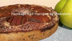 Pærekage med Marcipan og Chokolade