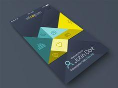 Telcogram iOS app by Duminda Perera (Milano) - Mobile app interface UI UX