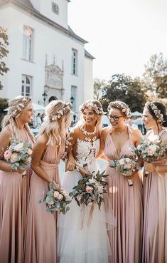 25 Dusty Rose and Sage Green Wedding Color Ideas dusty rose bridesmaid dresses and sage green wedding bouquets Dusty Rose Bridesmaid Dresses, Blush Pink Bridesmaid Dresses, Wedding Bridesmaids, Wedding Bouquets, Bride Maid Dresses, Spring Wedding Dresses, Alternative Bridesmaid Dresses, Blush Pink Wedding Dress, Spring Weddings