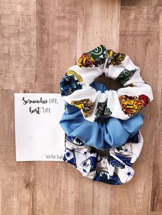 Hogwarts Ravenclaw Scrunchie Pack - Harry Potter - Luna - Top Knots Scrunchies - Hair Ties - Pony Ta