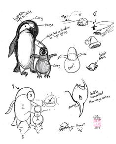 how to draw a penguin face