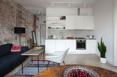 intérieur moderne avec cuisine open space