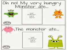 Bright Ideas: Speech-Language Therapy : Monster/Halloween Speech and Language Unit!