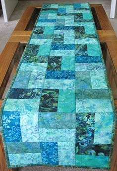 Batik Table Runner by PicketFenceFabric on Etsy