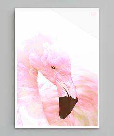 """""""Pink Flamingo""""/ Grafika wykonana w technice podwójnej ekspozycji"""