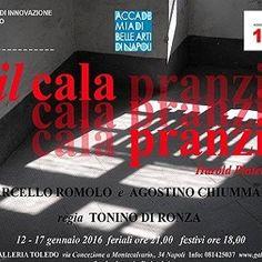"""Prodotto dall'Accademia di Belle Arti di Napoli, alla Galleria Toledo, fino al 17 gennaio 2016, è in scena """"Il Calapranzi"""" di Harold Pinter. #teatro #Napoli"""
