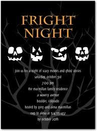 Share Your Fright Night Halloween Party Invitation Themes On Facebook At Holiday Invitations Adult