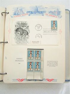 40 Page Postage Stamp Book First Day Issue Stationary 1961-62 Vintage Aviation