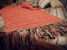 Coral Shell Fringe Home Decor Accent Throw Blanket, Interior Design Coral Throw Blanket, Afghan Blanket, Coral Color Decor, Do It Yourself Home, Yarn Colors, Colorful Decor, Home Interior Design, Accent Decor, Hand Knitting
