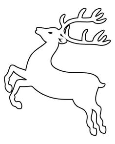 Reindeer Template Christmas Yard, Felt C - Diy Crafts - Marecipe Christmas Tree Stencil, Cross Stitch Christmas Ornaments, Christmas Drawing, Christmas Wood, Christmas Colors, Christmas Projects, Christmas Decorations, Christmas Templates, Christmas Printables