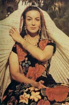 maria felix la tehuana,oaxaca mexico #vintagebeauty #classic