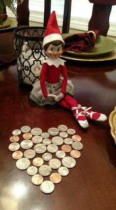 Elf on the Shelf Money Heart Could do with post it's