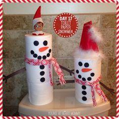 Terrific Pics Elf On The Shelf - Day Toilet Paper Roll Snowmen! Popular Elf On The Shelf – Day Toilet Paper Roll Snowmen! Christmas Elf, Christmas Crafts, Christmas Decorations, Christmas Ornaments, Xmas, Modern Christmas, Christmas Ideas, The Elf, Elf On The Shelf