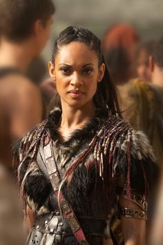 Cynthia Addia Robinson as Naevia in Spartacus: War of the Damned