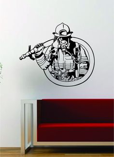 Beautiful wall vinyl decals, that are simple to apply, are a great accent piece for any room, come in an Vinyl Wall Decals, Wall Stickers, Vinyl Art, Firefighter Photography, Firefighter Crafts, Calligraphy For Beginners, Glass Engraving, Fire Department, Gravure