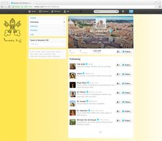 Pope Twitter account following list! :)