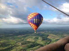 Hot air ballooning over Tuscany
