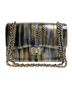 These are the most outrageous Chanel bags of all time. Chanel Metallic Python-Double Flap Bag, $17,900