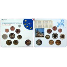 Bundesrepublik Deutschland, Euro-Kursmünzensatz 2011, mit 2 Euro Kölner Dom, ADFGJ komplett, st: Euro-Kursmünzensatz 2011 ADFGJ… #coins
