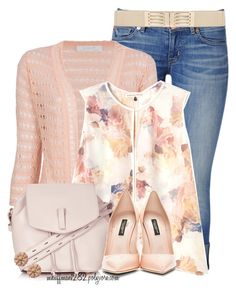 """Untitled #1042"" by mhuffman1282 ❤ liked on Polyvore featuring Hudson Jeans, Kristina Ti, Rebecca Taylor, Topshop, Dolce&Gabbana and Akira"