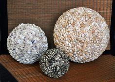 Seashell Spheres - a perfect centerpiece.  http://looseends.com/home-n-garden/level-pages/accents/spheres.htm