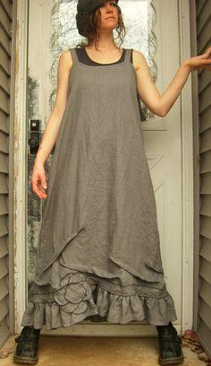 Long Flower Slip Dress by sarahclemensclothing on Etsy, $149.00