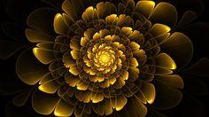 Yellow Flower by ~Mythara fractal art