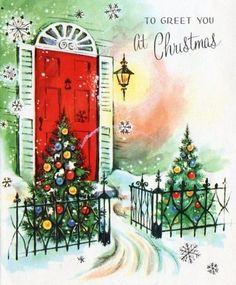 Pretty Christmas Card: