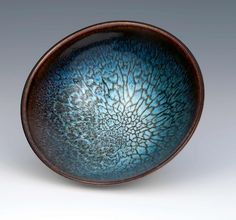 """Meredith Stewart """"I have been making Chun on Tenmoku bowls for years, they are my best-selling product, and still present a challenge. This example is the best bowl I have ever produced - it's in the glass cabinet as part of my personal collection."""""""