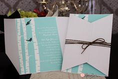 Whimsical Wedding Invitation with birds & white bark. Whimsical Wedding Invitations, Getting Married, Gift Wrapping, Birds, Paper, Fun, Gift Wrapping Paper, Wrapping Gifts, Bird