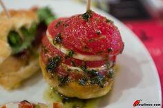 Barcelona: Tapas in Txapela   IGUELDO..tomato sheets and catalan cheese called Atura ...marinated