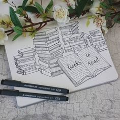 There are so many books I'd like to read. But I don't know where to find the time! Sounds familiar to some of you? To remember myself to read I've made a books to read spread.