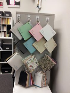 Cool idea for paper swatch book display