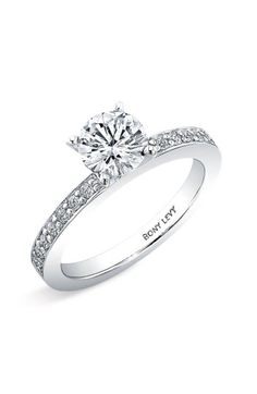 Free shipping and returns on Bony Levy Channel Set Diamond Engagement Ring Setting (Nordstrom Exclusive) at Nordstrom.com. Channels of prong-set diamonds lend brilliance to a classic semi-mount ring designed with a four-prong setting to highlight your own center stone.
