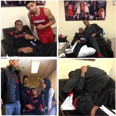 Kevin Ware and Teammates